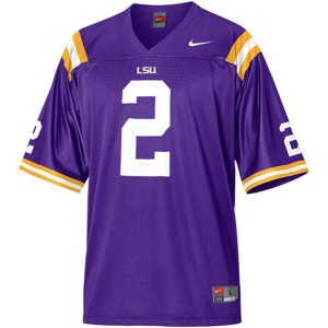 Rueben Randle LSU Tigers #2 Mesh Youth - Purple Football Jersey