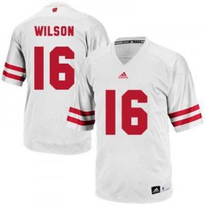 Russell Wilson UW Badger #16 - White Football Jersey