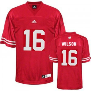 Russell Wilson UW Badger #16 Youth - Red Football Jersey
