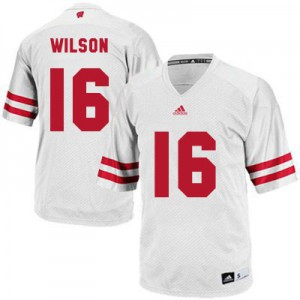 Russell Wilson UW Badger #16 Youth - White Football Jersey