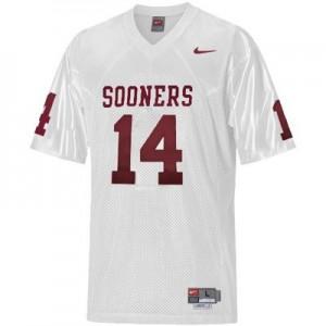 Sam Bradford Oklahoma Sooners #14 Youth - White Football Jersey