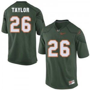 Sean Taylor Miami Hurricanes #26 Youth - Green Football Jersey