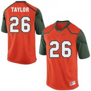 Sean Taylor U of M Hurricanes #26 Youth - Orange Football Jersey