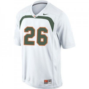 Sean Taylor Miami Hurricanes #26 Youth - White Football Jersey