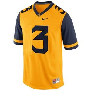 Stedman Bailey West Virginia Mountaineers #3 - Gold Football Jersey