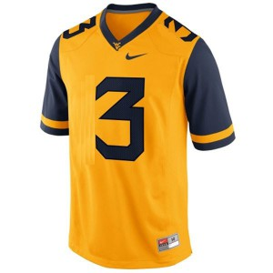 Stedman Bailey West Virginia Mountaineers #3 Youth - Gold Football Jersey