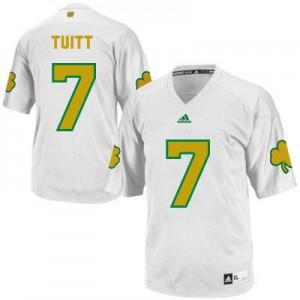 Stephon Tuitt Notre Dame Fighting Irish #7 Shamrock Series - White Football Jersey