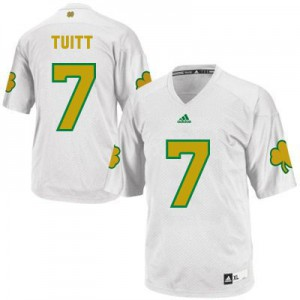 Stephon Tuitt Notre Dame Fighting Irish #7 Shamrock Series Youth - White Football Jersey