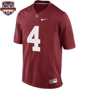 T.J. Yeldon Alabama Crimson Tide #4 BCS Bowl Patch Youth - Crimson Red Football Jersey