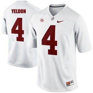 T.J. Yeldon Alabama Crimson Tide #4 - White Football Jersey
