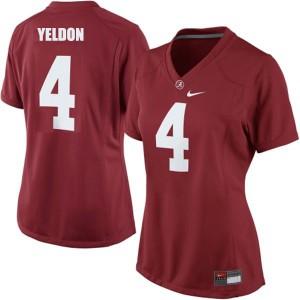 T.J. Yeldon Alabama Crimson Tide #4 Women - Crimson Red Football Jersey