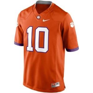 Tajh Boyd Clemson #10 - Orange Football Jersey