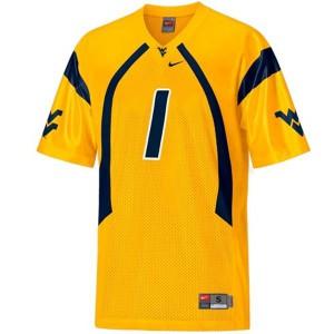 Tavon Austin West Virginia Mountaineers #1 - Gold Football Jersey