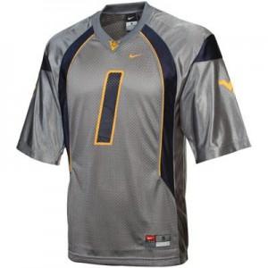 Tavon Austin West Virginia Mountaineers #1 - Gray Football Jersey