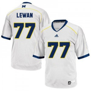 Taylor Lewan UMich Wolverines #77 Youth - White Football Jersey