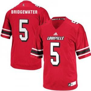 Teddy Bridgewater Louisville Cardinals #5 - Red Football Jersey