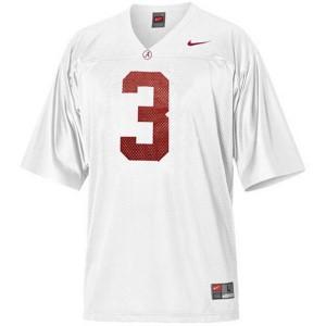 Trent Richardson Alabama Crimson Tide #3 - White Football Jersey