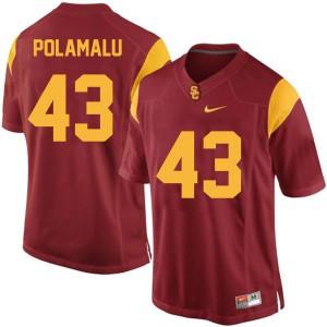 Troy Polamalu USC Trojans #43 Youth - Red Football Jersey