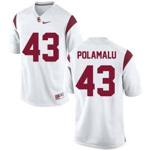 Troy Polamalu USC Trojans #43 Youth - White Football Jersey