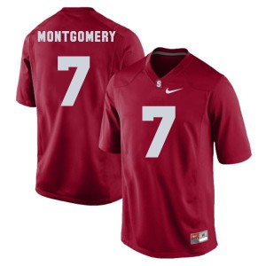 Ty Montgomery Stanford Cardinal #7 Youth - Red Football Jersey