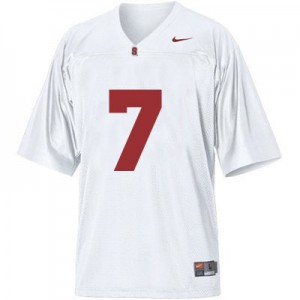 Ty Montgomery Stanford Cardinal #7 Youth - White Football Jersey
