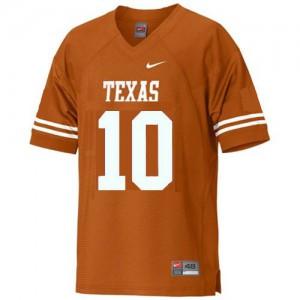 Vince Young Texas Longhorns #10 - Orange Football Jersey