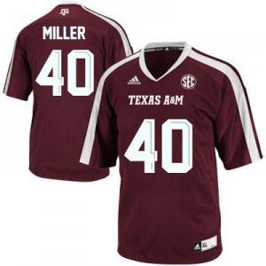 Von Miller Texas A&M Aggies #40 - Maroon Red Football Jersey