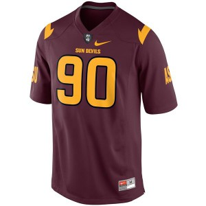Will Sutton Arizona State Sun Devils #90 Youth - Red Football Jersey