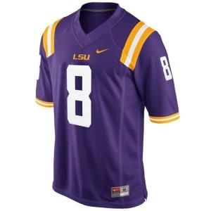 Zach Mettenberger LSU Tigers #8 Mesh Youth - Purple Football Jersey