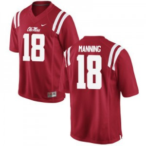 Archie Manning Ole Miss Rebels #18 - Red Football Jersey
