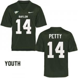 Bryce Petty Baylor Bears #14 Youth - Green Football Jersey