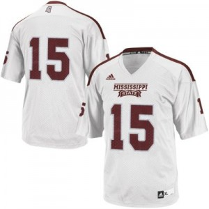 Mississippi State Bulldogs #15 Youth - White Football Jersey