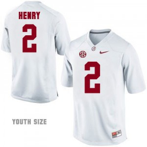Derrick Henry Alabama Crimson Tide #2 Youth - White Football Jersey
