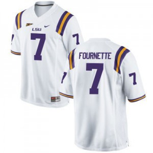 Leonard Fournette LSU Tigers #7 - White Football Jersey