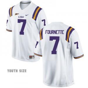 Leonard Fournette LSU Tigers #7 Youth - White Football Jersey