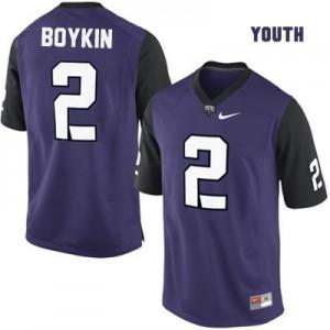 Trevone Boykin #2 TCU Horned Frogs Purple - Youth Size Football Jersey